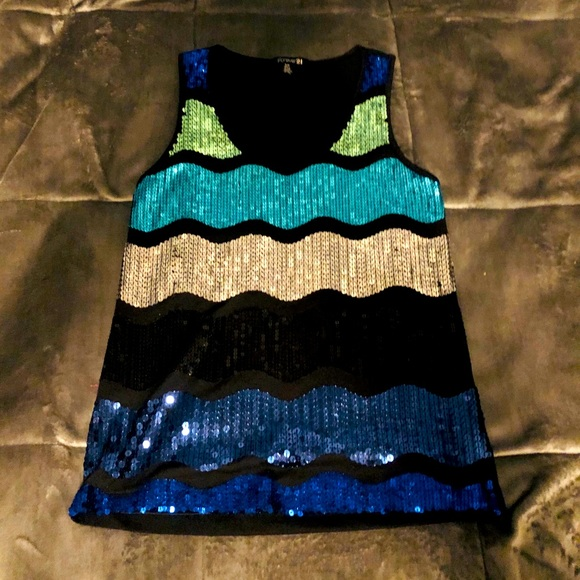 Forever 21 glitter tank top small